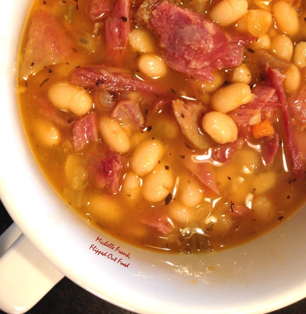 Slow-cooker ham and navy bean soup