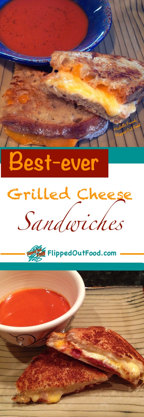 This best-ever grilled cheese sandwich combines melty cheese with sharp cheese for optimal gooeyness and flavor.