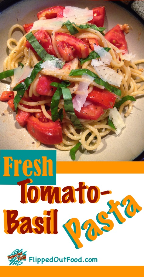 Tomato-Basil Pasta: a fresh, healthy meal that's done in the time it takes to boil pasta!