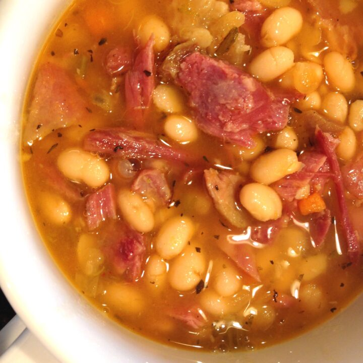 Easy Pantry Meals: Ham and Navy Bean Soup
