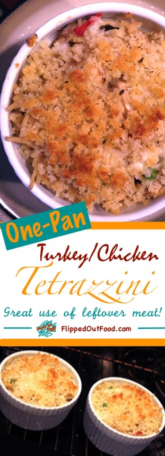 One-pot turkey tetrazzini pin