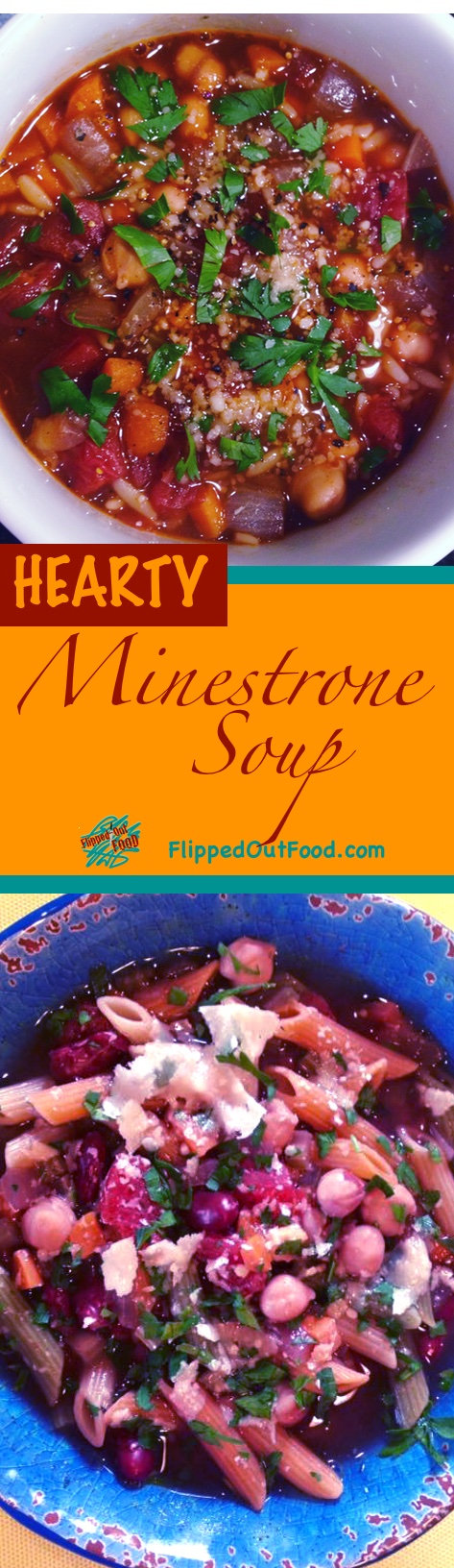 This easy, hearty Italian Minestrone Soup is made almost entirely with staples from your pantry.