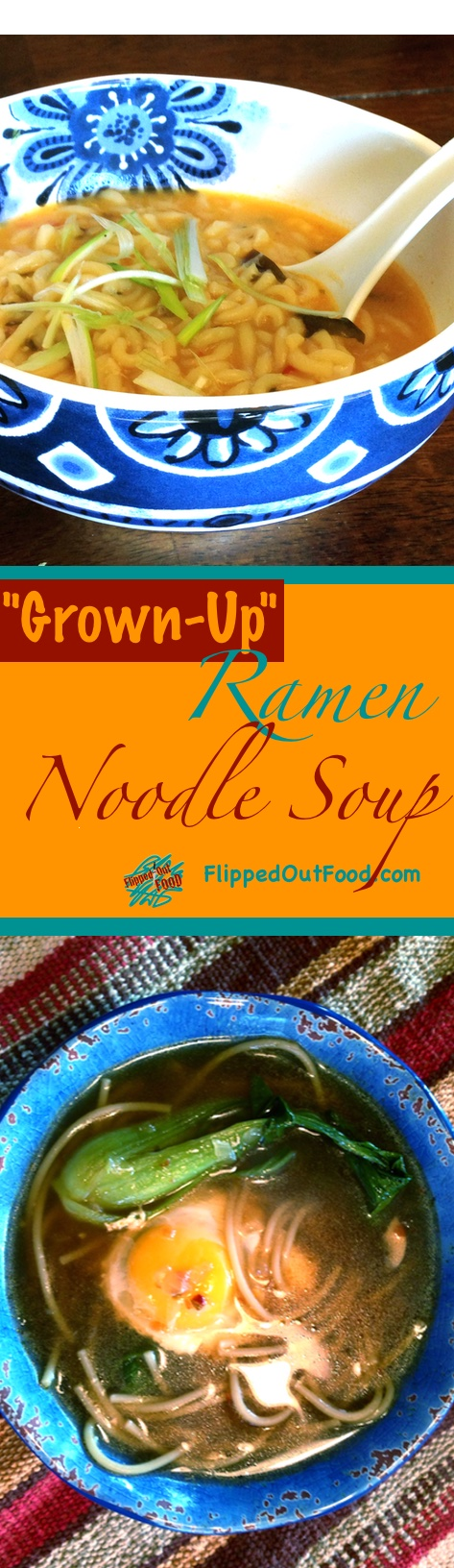 An easy recipe for Asian Ramen Noodle Soup that's much healthier than the nuke-and-eat version we all grew up with!