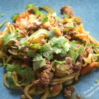 turkey zoodle lo mein recipe