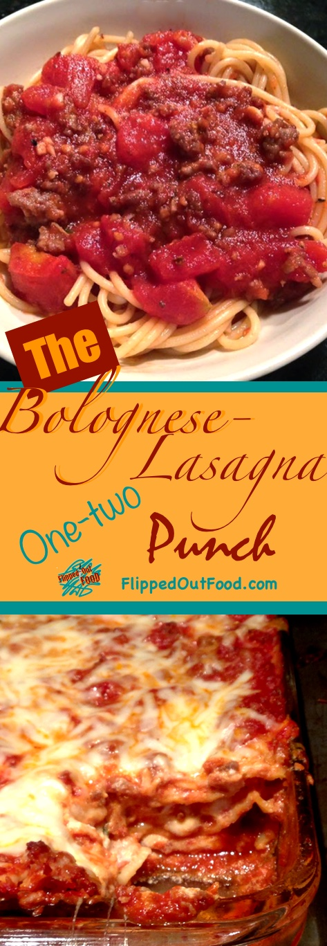 Make Bolognese Sauce to eat over pasta, then use it in Lasagna Bolognese or baked pasta casserole for a