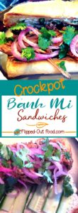 Crockpot bánh mi sandwiches pin collage