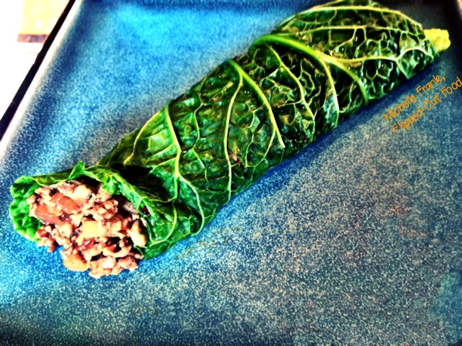 Asian Pork Wrap with savoy cabbage