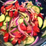 cucumber-onion-tomato salad