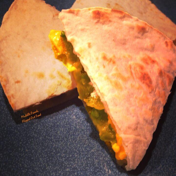 fajita quesadillas plated
