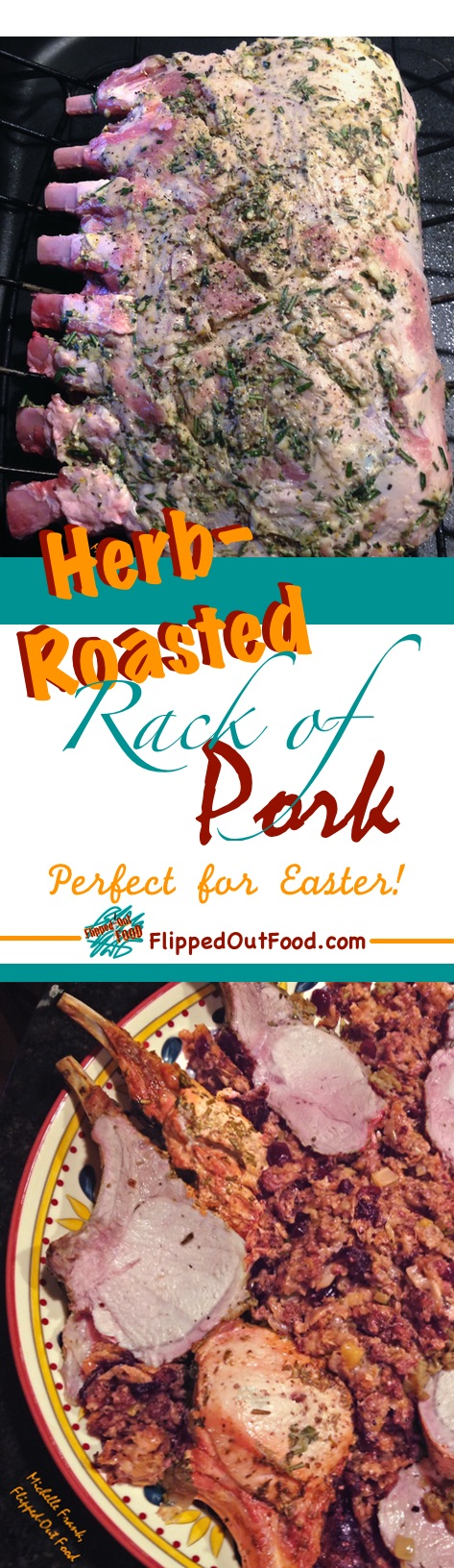 Herb-Roasted Rack of Pork is an easy meal that's fancy enough to impress at Christmas, Easter, or any special-occasion dinner.