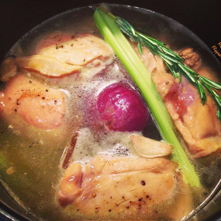 pressure-cooker chicken broth