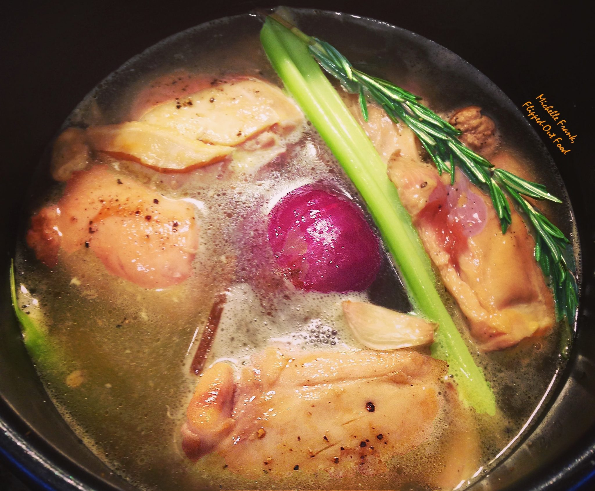 pressure-cooker chicken broth