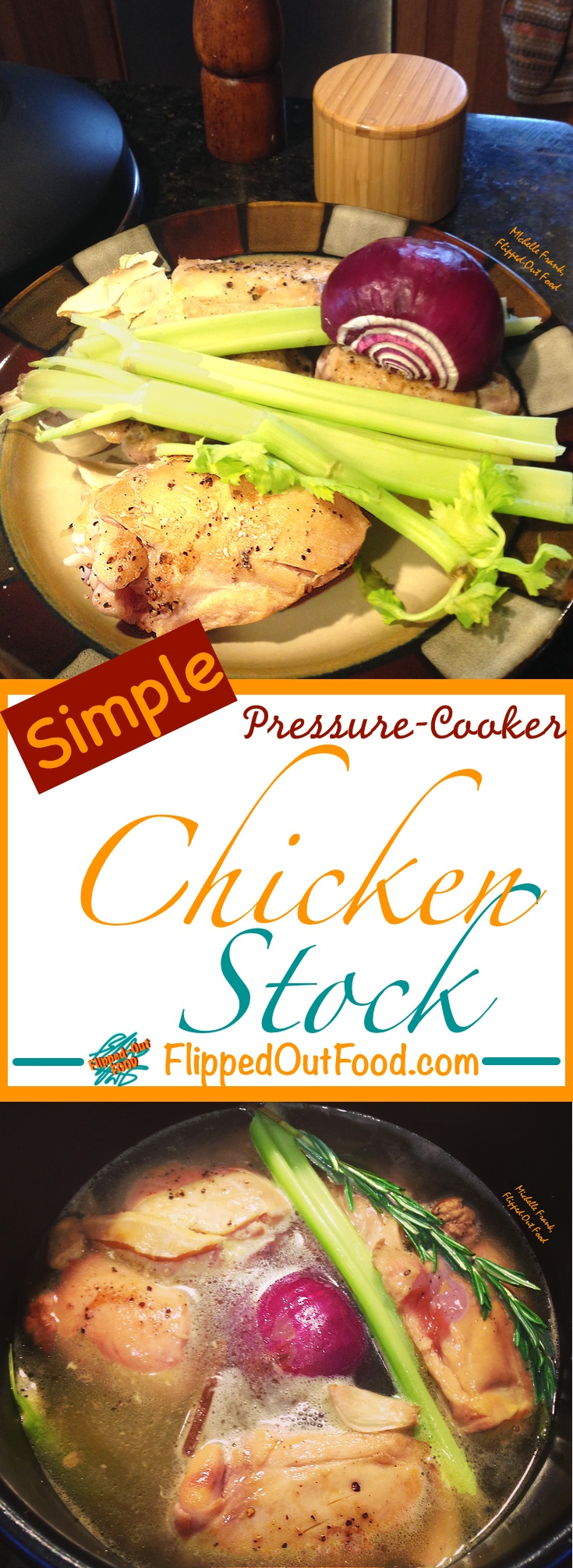 Rich, flavorful Pressure-Cooker Chicken Stock is perfect for soups, stews, and sauces—and it's done in a fraction of the time!