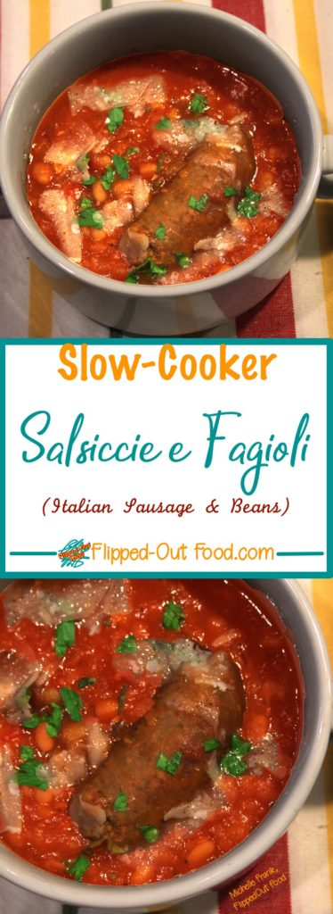 Slow-Cooker Salsiccie e Fagioli pin