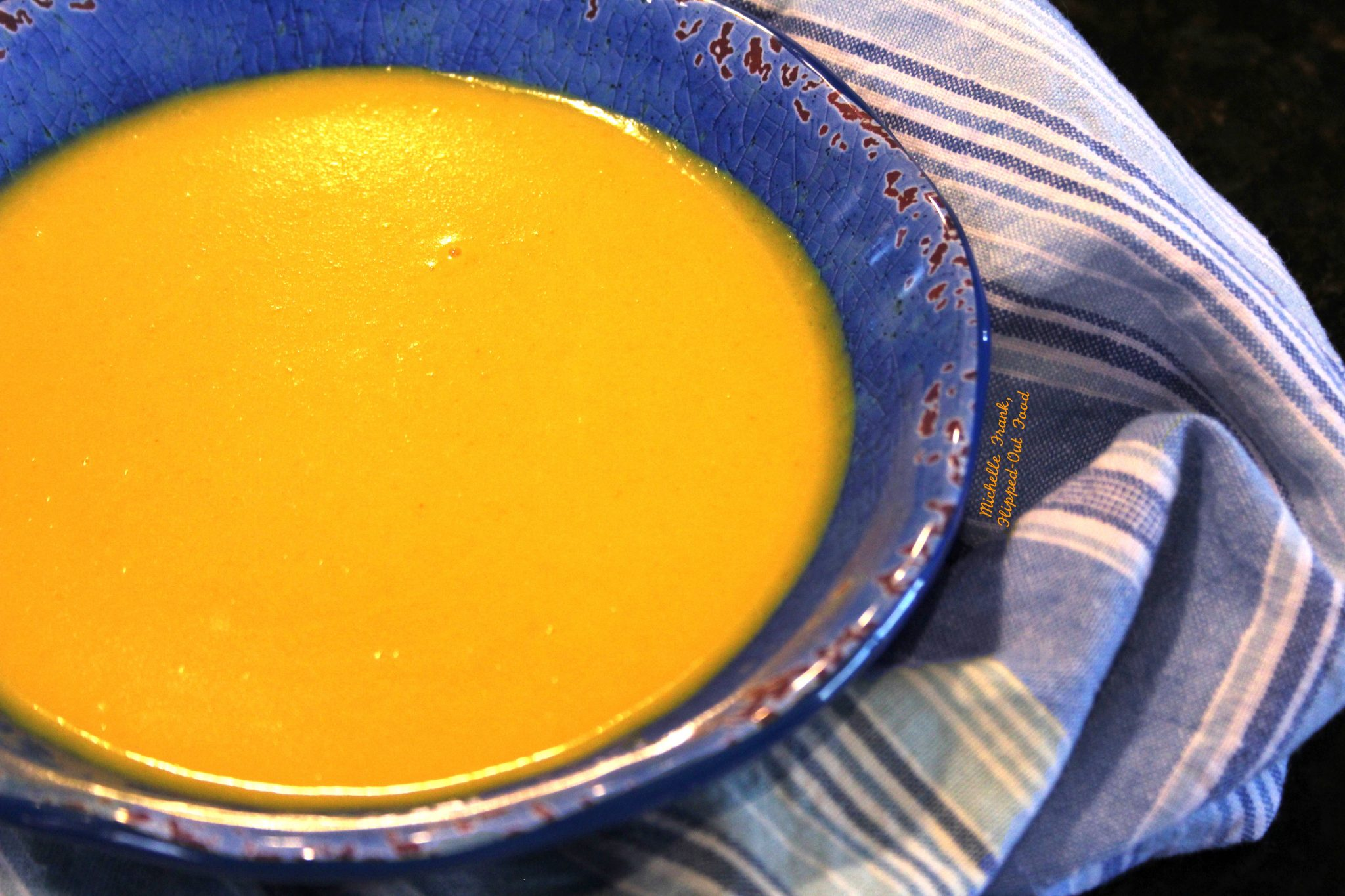 ginger-turmeric butternut squash soup closeup