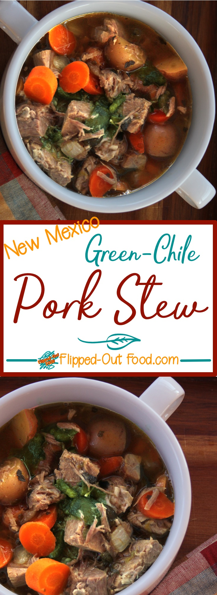 Green Chile Pork Stew is a hearty meal and a great dish to make 1-2 days in advance in the slow-cooker!