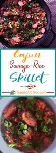 cajun sausage-rice skillet bowl