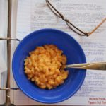 creamy microwave macaroni & cheese top view