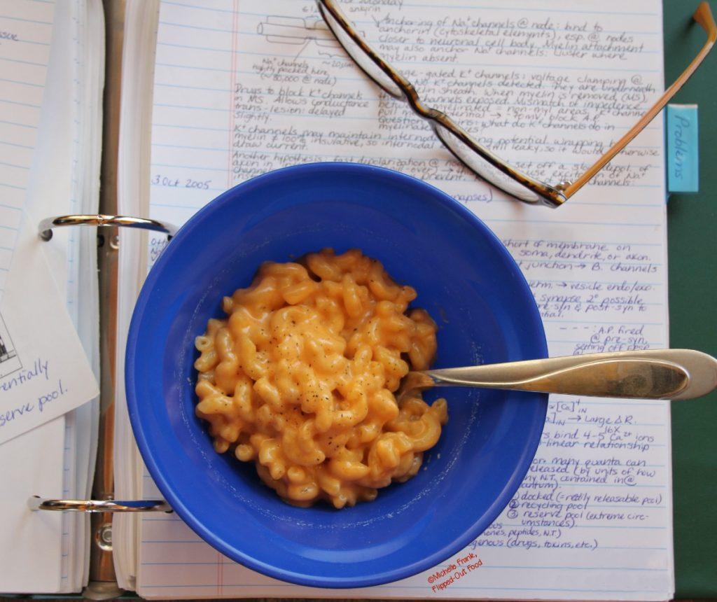 creamy microwave macaroni & cheese top view
