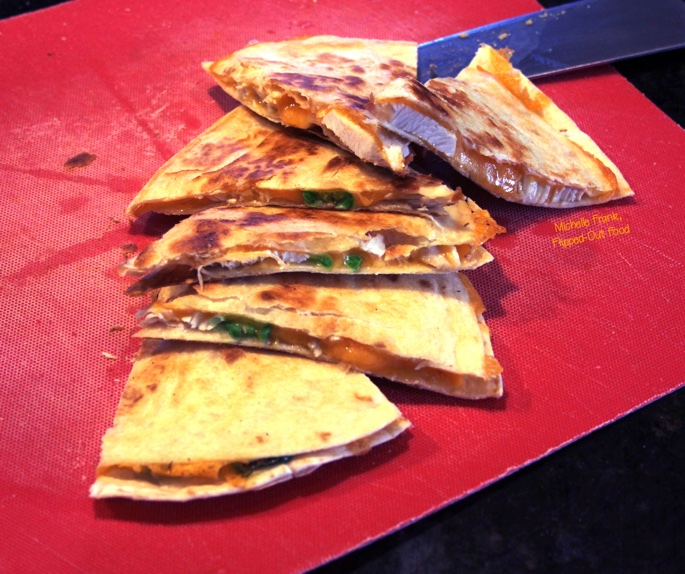 Cheesy Picante Chicken Quesadillas
