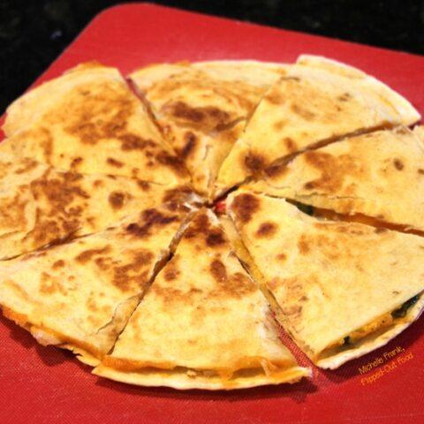 Cheesy Picante Chicken Quesadillas