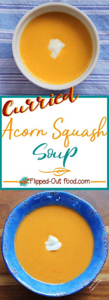 Curried Acorn Squash Soup pin