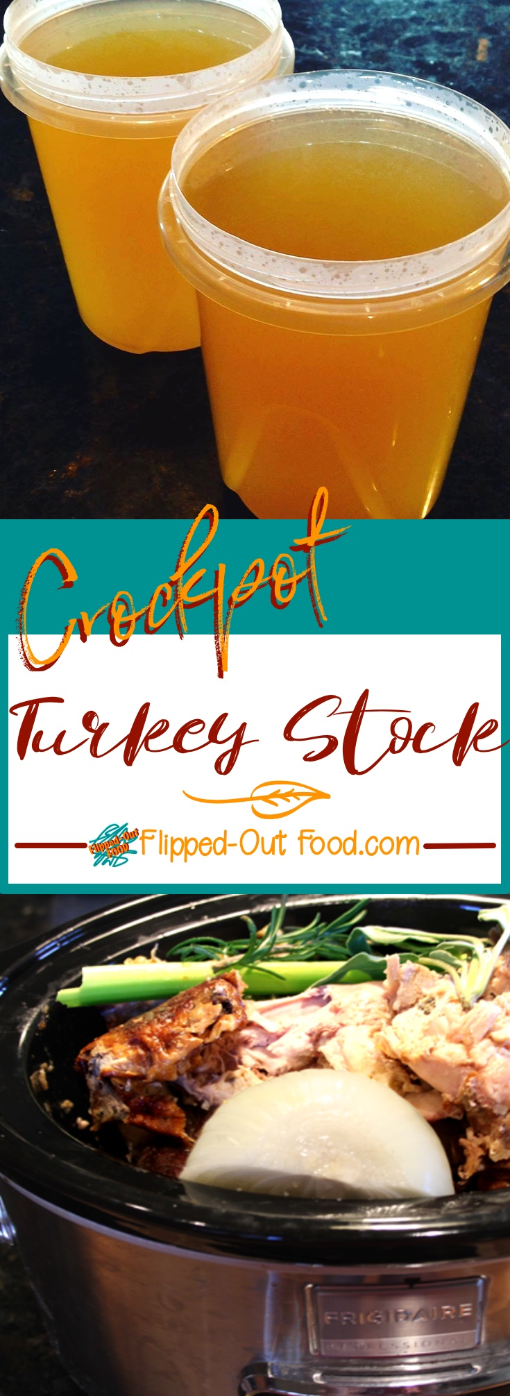 crockpot turkey stock pinterest collage