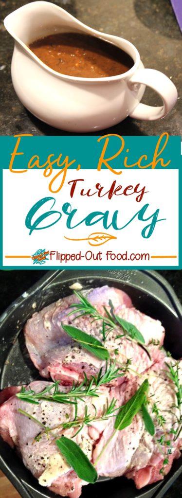 easy, rich turkey gravy pin