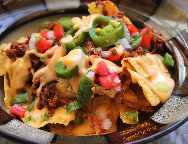 loaded nachos serving close-up
