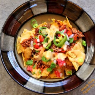 loaded nachos serving