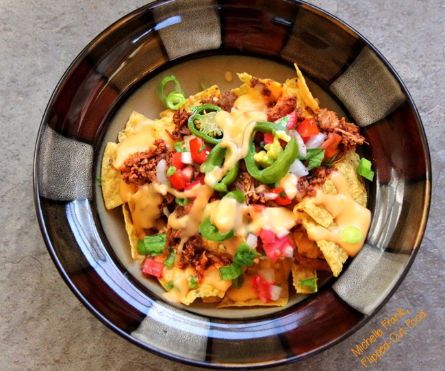 perfect loaded nachos serving