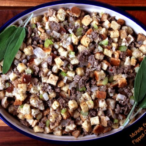 easy sausage stuffing in baking dish