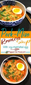 pork-miso ramen soup with soy-marinated egg