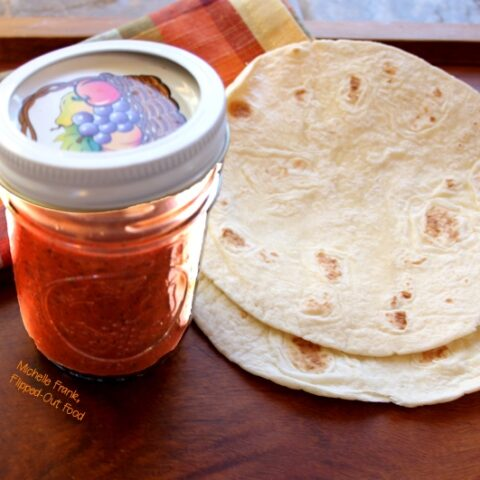 quick smoky red enchilada sauce in a jar