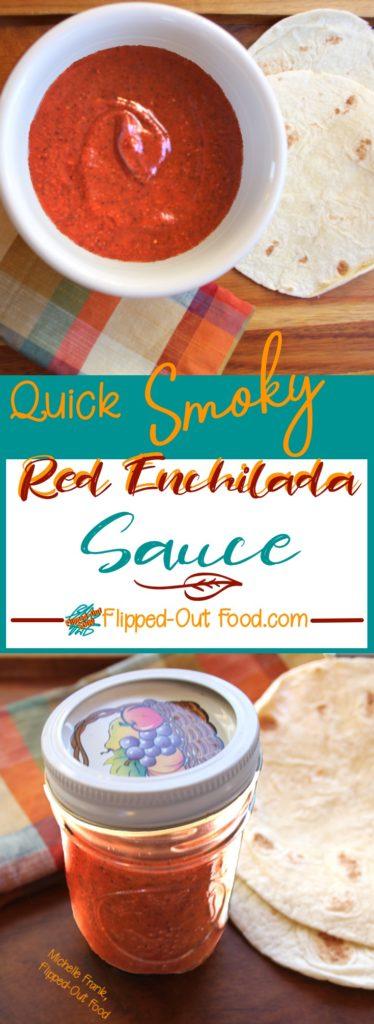 quick smoky red enchilada sauce pin