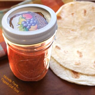 quick smoky red enchilada sauce jar
