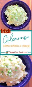 Pin collage for Irish colcannon with cabbage and leeks
