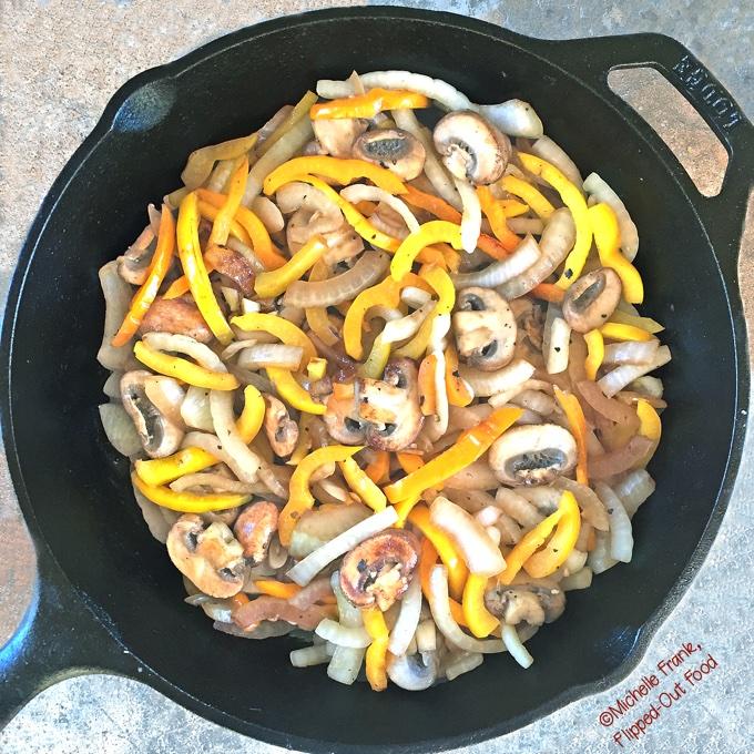 Skillet Pepper-Mushroom-Onion Stir-Fry – a great side dish!