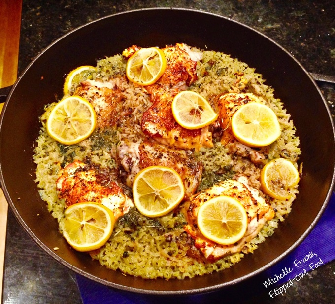 Easy One-Pot Meal Recipes: a skillet full of Meyer Lemon Chicken and Rice.