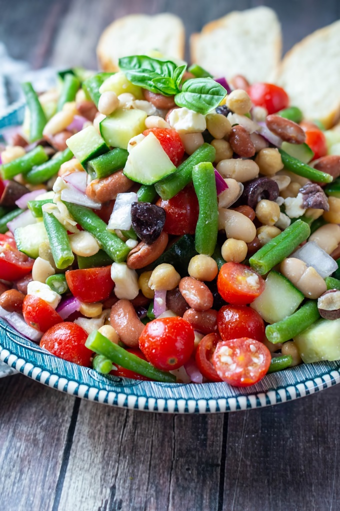 Greek Bean Salad, by Moore or Less Cooking