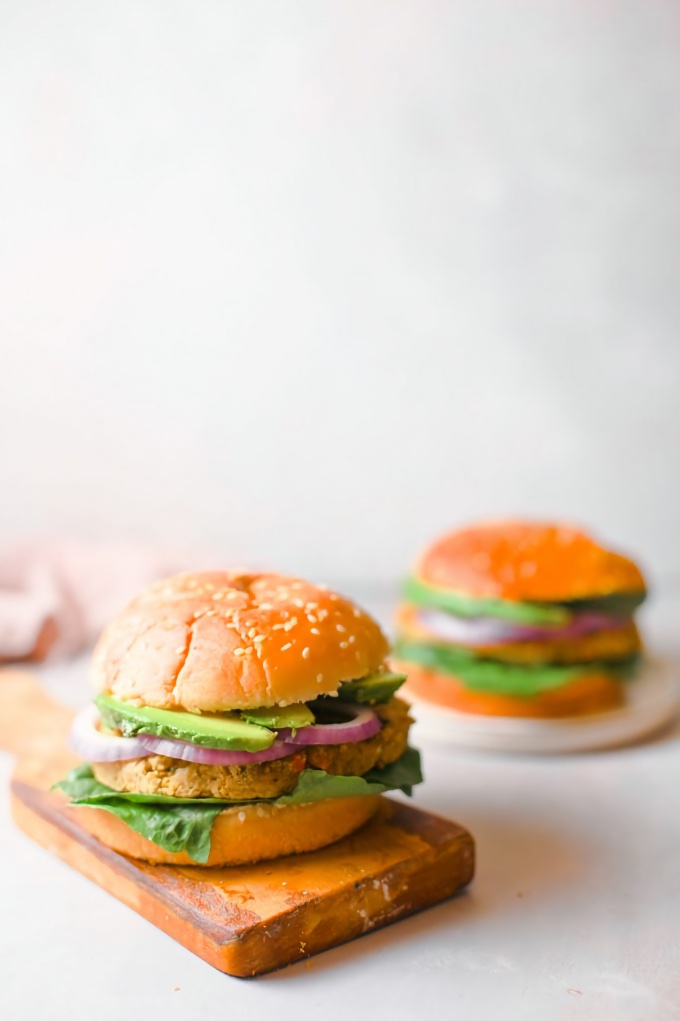 15-minute Chickpea Burgers, from Wow, It's Veggie?!