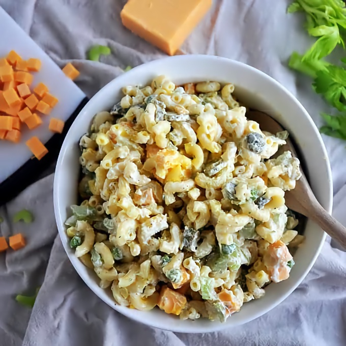Rancharoni Macaroni Salad, by Ramshackle Pantry
