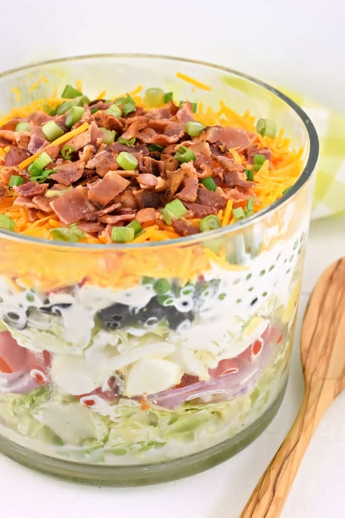 Seven Layer Salad, by Shugary Sweets