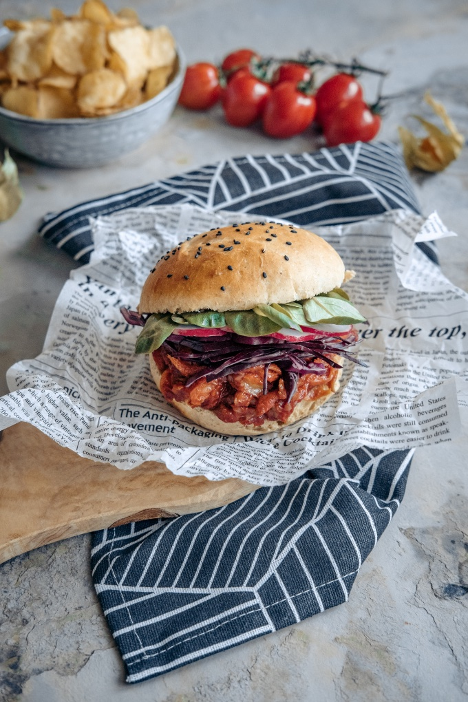 Vegan Pulled Pork, from Yuzu Bakes