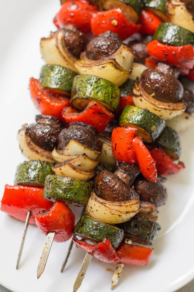 Vegetable Kebabs, from The Clean Eating Couple