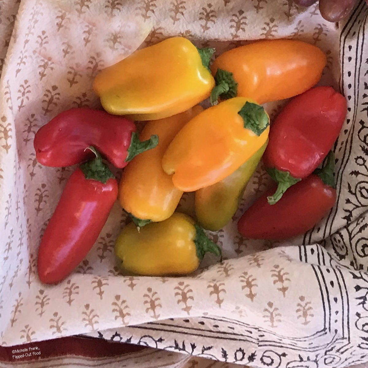 Mini Peppers for Sweet Peppers Stuffed with Goat Cheese